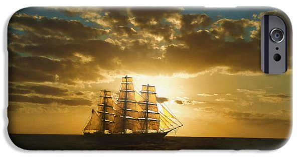 Tall Ship Digital Art iPhone Cases - Cutty Sark iPhone Case by Dale Jackson