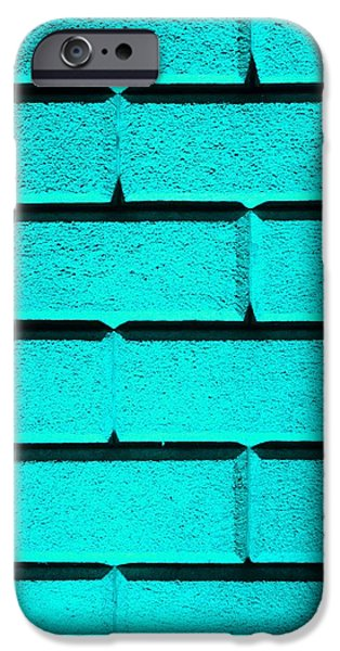 Cyan Wall iPhone Case by Semmick Photo