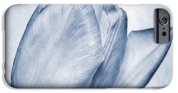 Stamen Digital iPhone Cases - Cyanotype Tulip iPhone Case by John Edwards