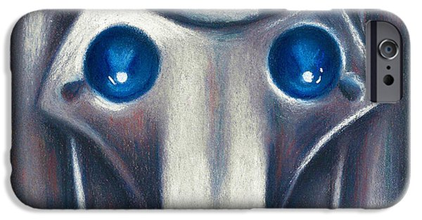 Science Fiction Pastels iPhone Cases - Cyberman iPhone Case by Connie Mobley Johns
