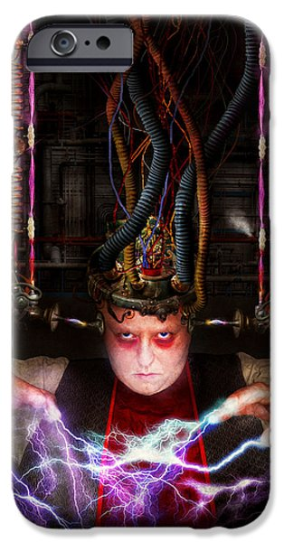 Cyberpunk - Mad skills iPhone Case by Mike Savad