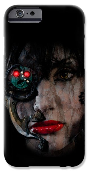 Pleasure Digital Art iPhone Cases - Cyborg iPhone Case by Nathan Wright