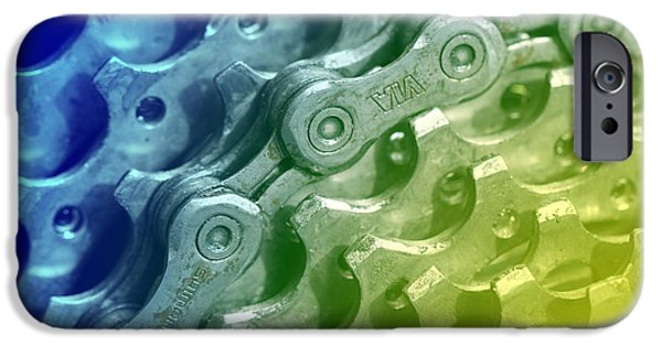 Components iPhone Cases - Cycling Gears iPhone Case by Tap  On Photo