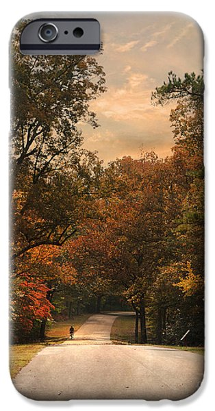 Autumn Scenes iPhone Cases - Cycling Season iPhone Case by Jai Johnson