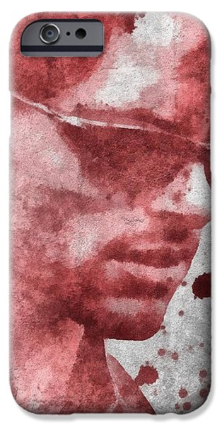 Xmen iPhone Cases - Cyclops X Men Paint Splatter iPhone Case by Dan Sproul