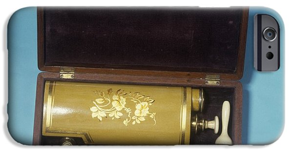 Nineteenth iPhone Cases - Cylinder Enema, Circa 1850 iPhone Case by Science Photo Library