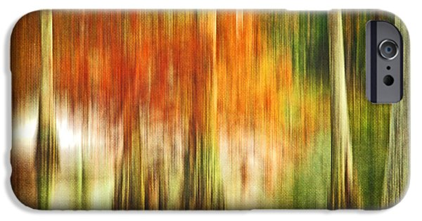 Abstract Digital Photographs iPhone Cases - Cypress Pond iPhone Case by Scott Pellegrin