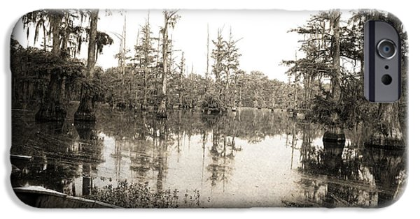 Cypress Trees iPhone Cases - Cypress Swamp iPhone Case by Scott Pellegrin