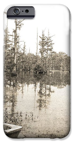 Cypress Swamp iPhone Case by Scott Pellegrin