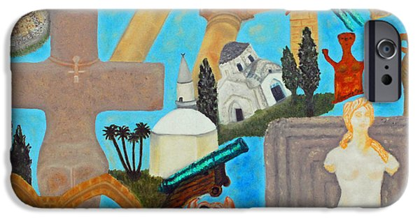 Larnaca iPhone Cases - Cyprus History iPhone Case by Augusta Stylianou