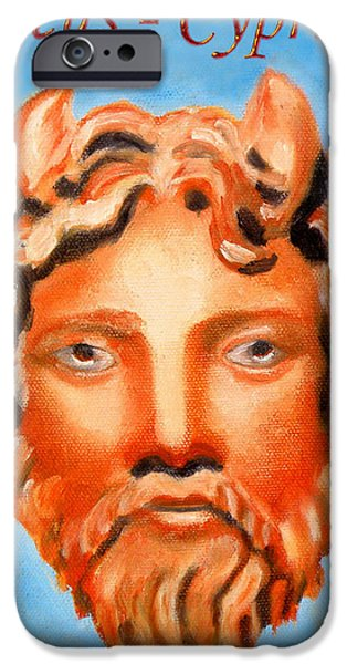Larnaca iPhone Cases - Cyprus - Zeus iPhone Case by Augusta Stylianou
