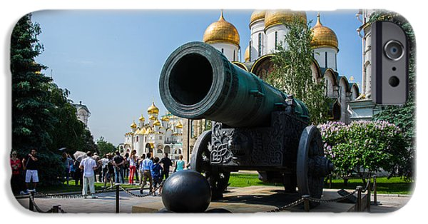 Annunciation iPhone Cases - Czar cannon of Moscow Kremlin iPhone Case by Alexander Senin