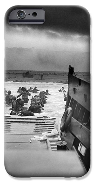 D-Day Landing iPhone Case by War Is Hell Store