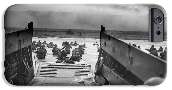 States Photographs iPhone Cases - D-Day Landing iPhone Case by War Is Hell Store