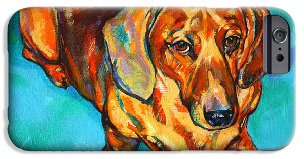 Hot Dogs iPhone Cases - Dachshund iPhone Case by Derrick Higgins