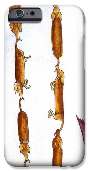 Dachshund Links iPhone Case by Christy Beckwith