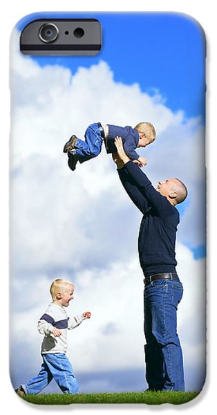 Bonding iPhone Cases - Dad With Sons iPhone Case by Don Hammond