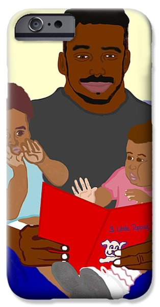 Daddy's Bundles iPhone Case by Pharris Art