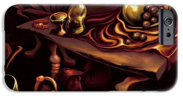 Table Wine iPhone Cases - Dads Shoes iPhone Case by Hans Neuhart
