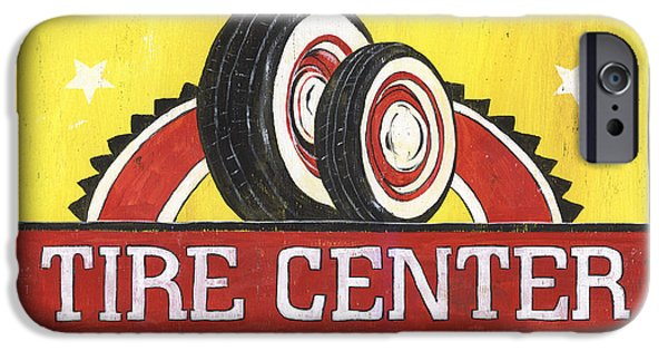 Creative People iPhone Cases - Dads Tire Center iPhone Case by Debbie DeWitt