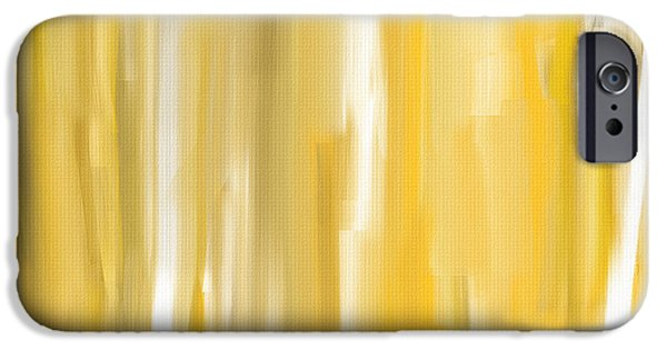 Hue iPhone Cases - Daffodil Cream iPhone Case by Lourry Legarde