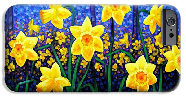 Meadow iPhone Cases - Daffodil Dance iPhone Case by John  Nolan