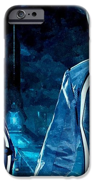 Daft Punk in Tron Legacy iPhone Case by Florian Rodarte