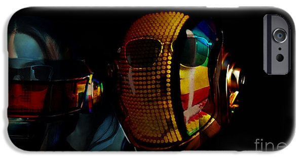 Tron iPhone Cases - Daft Punk Pharrell Williams  iPhone Case by Marvin Blaine