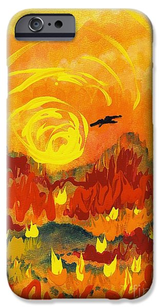 Fury iPhone Cases - DAgony iPhone Case by Holly Carmichael