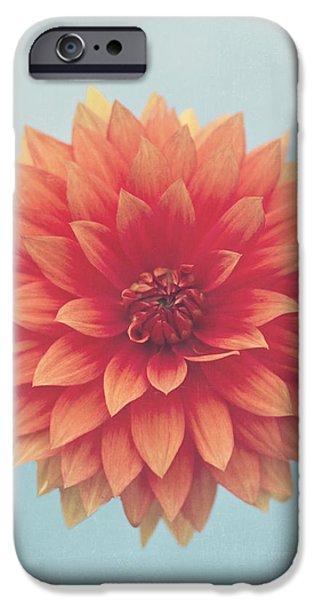 Simplistic iPhone Cases - Dahlia iPhone Case by Jessie Gould
