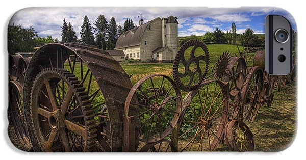 Silos iPhone Cases - Dahmen Barn iPhone Case by Mark Kiver