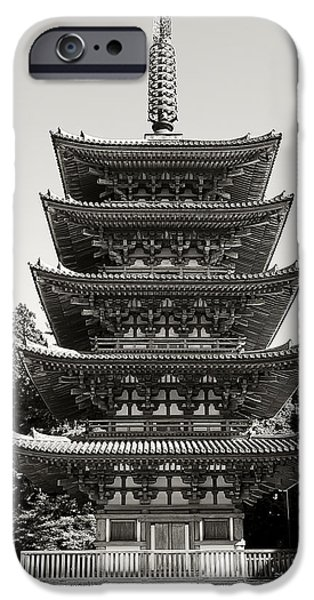 National Treasure iPhone Cases - Daigo-ji Pagoda - Japan National Treasure iPhone Case by Daniel Hagerman