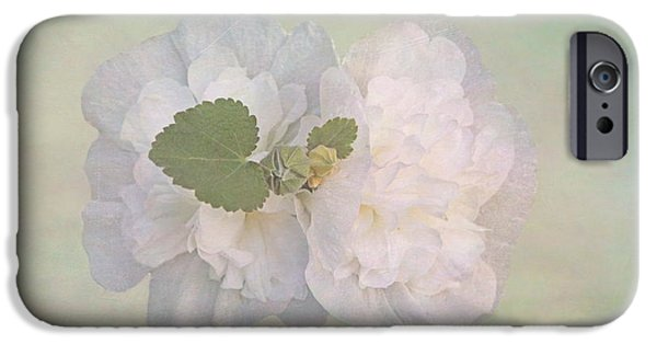 Hollyhock iPhone Cases - Dainty Hollyhock iPhone Case by Angie Vogel