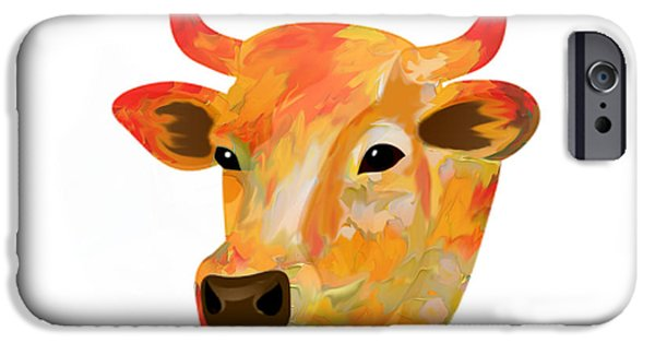 Cow iPhone Cases - Dairy Queen iPhone Case by Sheela Ajith