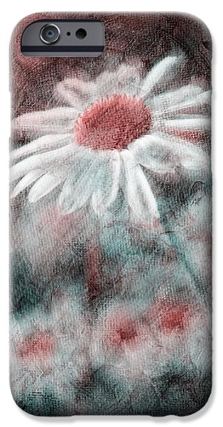 Altered iPhone Cases - Daisies ... again - p11ac2t1 iPhone Case by Variance Collections