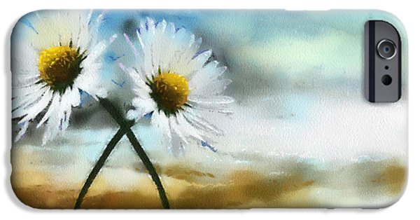 Daisy iPhone Cases - Daisies in Love iPhone Case by Anthony Caruso