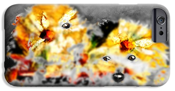 Puppies iPhone Cases - Daisy animal iPhone Case by Marcello Cicchini