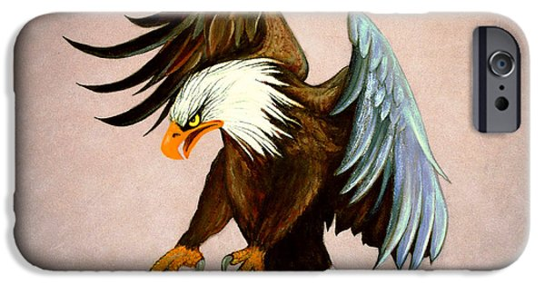 American Eagle Paintings iPhone Cases - Dakota iPhone Case by Adele Moscaritolo