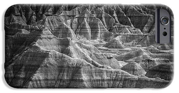 Desert iPhone Cases - Dakota Badlands iPhone Case by Perry Webster