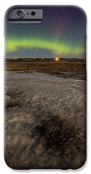Aurora iPhone Cases - Dakota Lights iPhone Case by Aaron J Groen