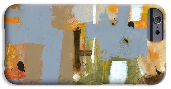 Abstract Expressionist Paintings iPhone Cases - Dakota Street 6 iPhone Case by Douglas Simonson