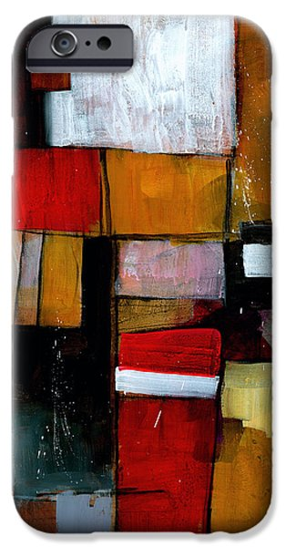 Abstract Expressionist Paintings iPhone Cases - Dakota Street 9 iPhone Case by Douglas Simonson