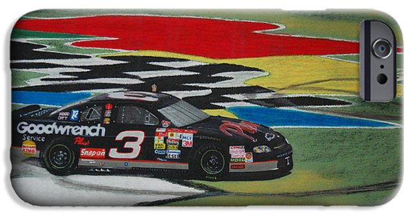 Doughnuts iPhone Cases - Dale Earnhardt Wins Daytona 500-Infield Doughnuts iPhone Case by Paul Kuras