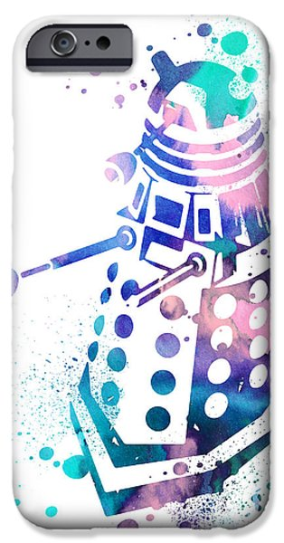 Doctor iPhone Cases - Dalek 2 iPhone Case by Luke and Slavi