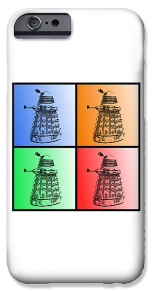 Recently Sold -  - Nation iPhone Cases - Dalek Pop Art iPhone Case by Richard Reeve