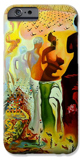 Statue iPhone Cases - Dali Oil Painting Reproduction - The Hallucinogenic Toreador iPhone Case by Mona Edulesco