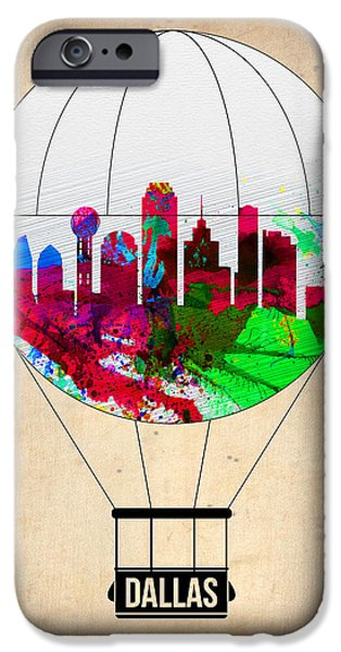 Towns Digital Art iPhone Cases - Dallas Air Balloon iPhone Case by Naxart Studio
