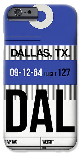 Town iPhone Cases - Dallas Airport Poster 1 iPhone Case by Naxart Studio