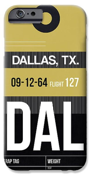 Town iPhone Cases - Dallas Airport Poster 2 iPhone Case by Naxart Studio
