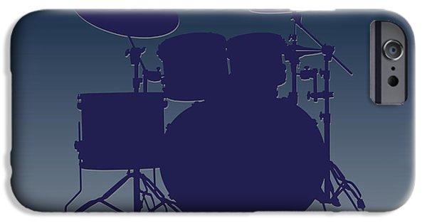 Drum Sets iPhone Cases - Dallas Cowboys Drum Set iPhone Case by Joe Hamilton
